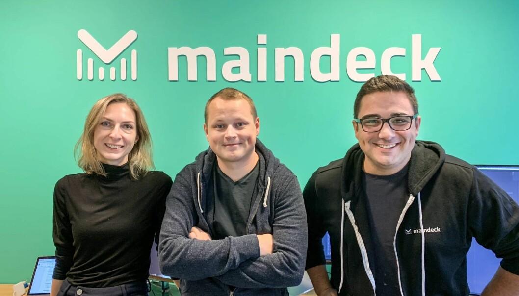 Ekaterina Nikonova (Software Developer), Martin Ulleberg (Co-Founder & CTO) og Sasan Mameghani.