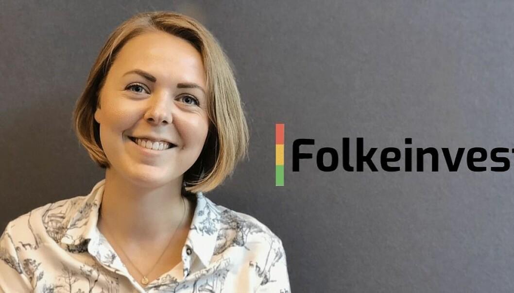 Elise Landsem, ny markedssjef i Folkeinvest.no. Foto: Presse