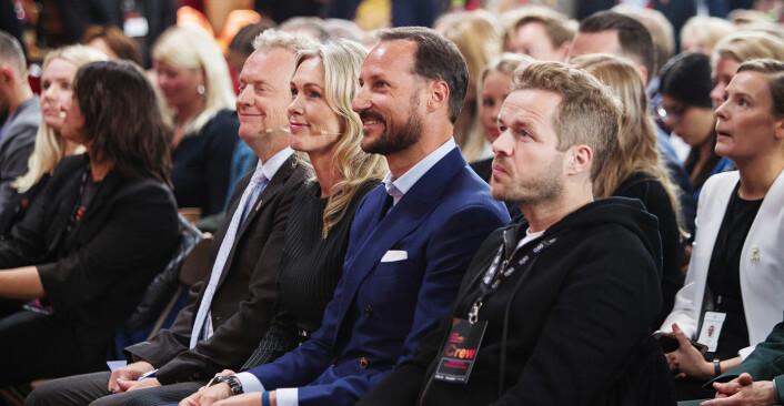 Raymond Johansen (t.v.) Anita Krohn Traaseth, Kronprins Haakon og Fredrik Winther under åpningen av årets Oslo Innovation Week i fjor. Foto: Christian Jørgensen / EUR-BERLIN.COM
