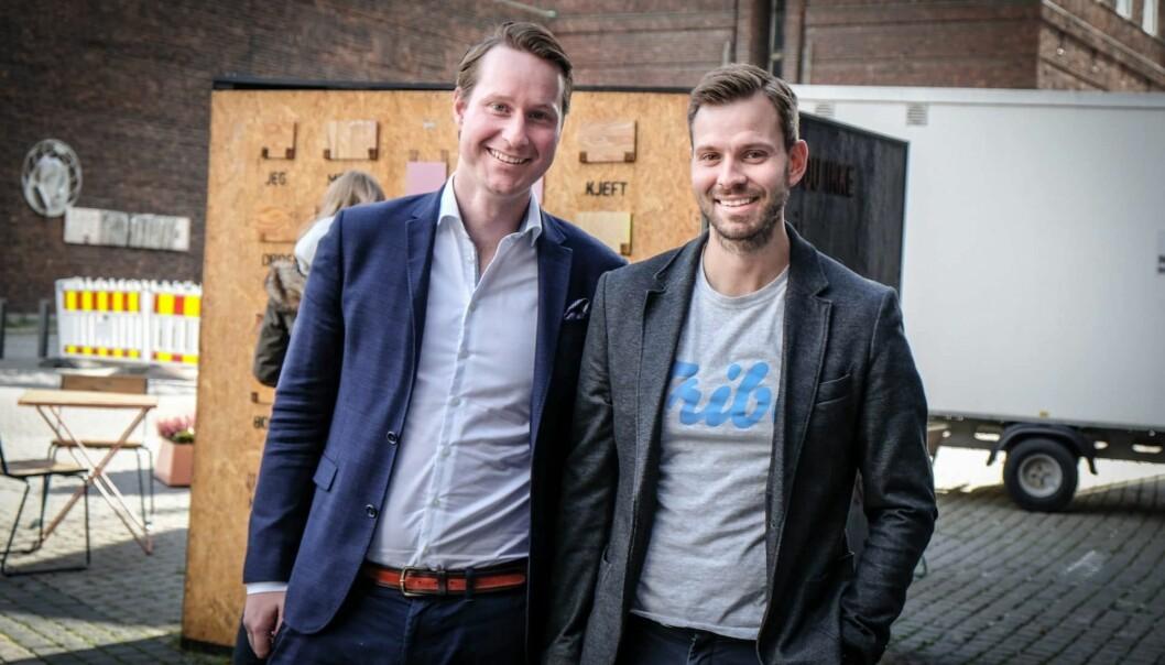 Morten Moe Gjendemsjø og Henrik Sjølie i Tribe. Begge er med videre i Intellitech. Foto: Vilde Mebust Erichsen