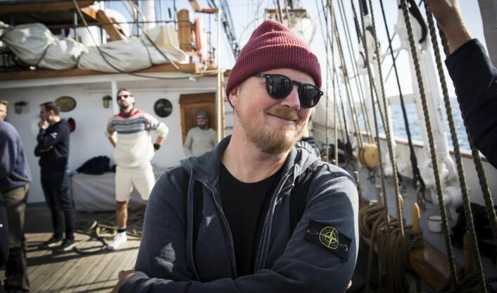 Bjarne Melbye i Tomorrow Today ombord på Christian Radich, under xVoyage. Foto: Per-Ivar Nikolaisen