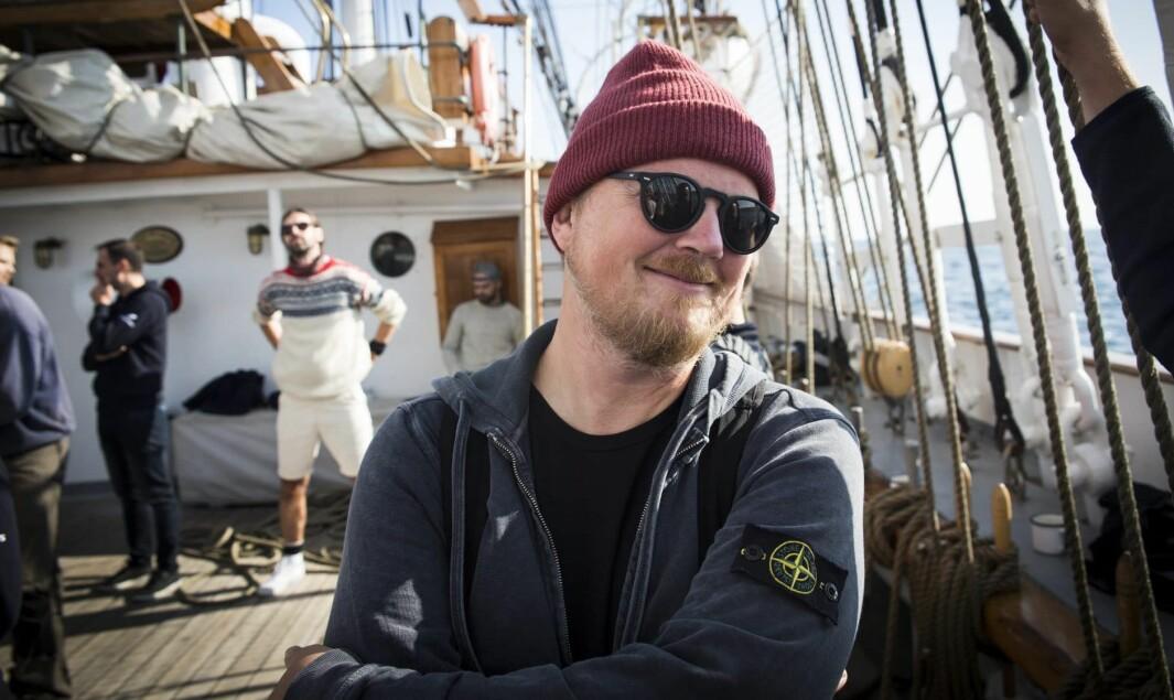Bjarne Melbye i Tomorrow Today ombord på Christian Radich, under xVoyage.