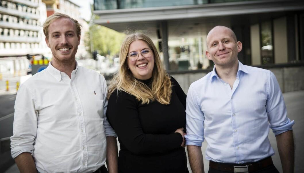 Ståle Zerener i Lucidtech har fått napp hos Ida Aspaas Karlsen og Tom Einar Nyberg i KPMG. Foto: Per-Ivar Nikolaisen