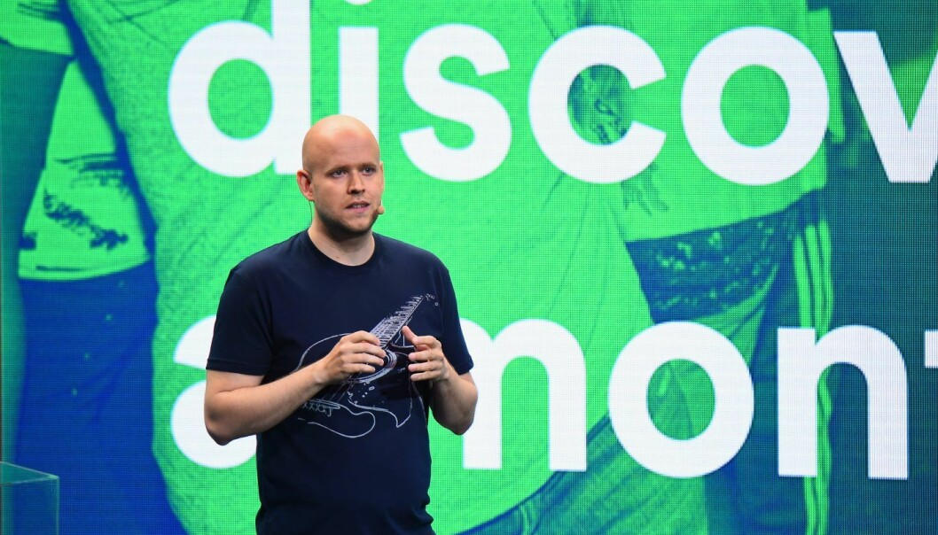Daniel Ek og Spotify kan glede seg over milliardinntekter fra aksje-salg.  Foto: Michael Loccisano/Getty Images for Spotify)