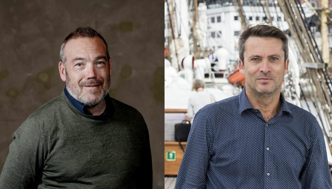 Fredrik Syversen i IKT-Norge og Daniel Ras-Vidal i Abelia. Foto: IKT-Norge og Shifter