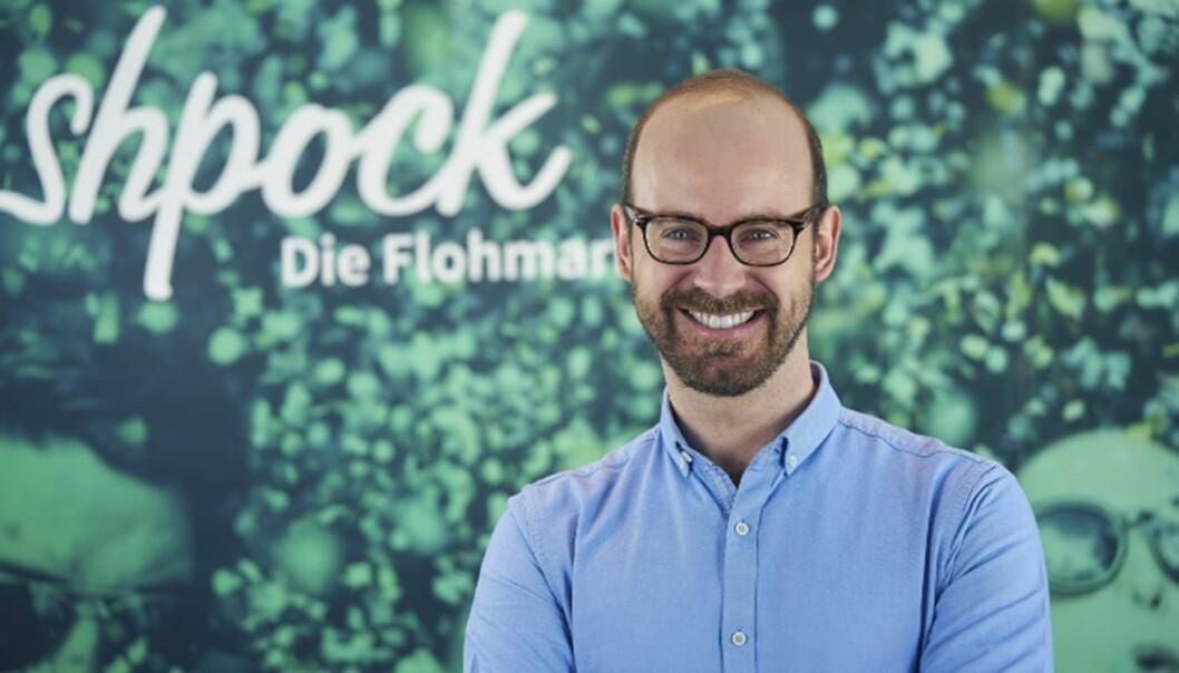 Bernhard Baumann gir seg som sjef for Shpock. Foto: Shpock