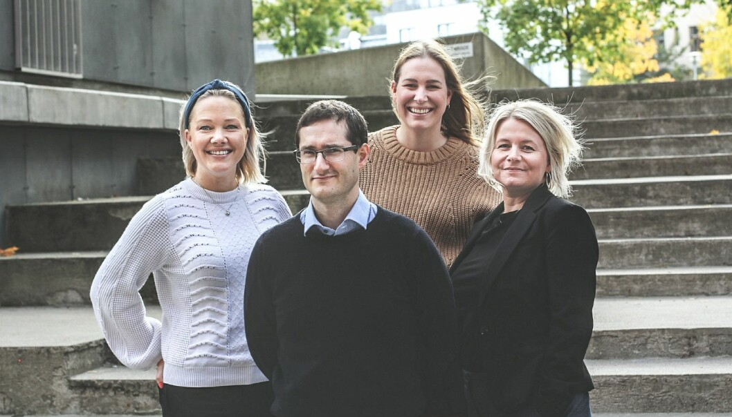 Henriette Sveen, Arne Heldal, Cecilie Behring Hansen og Anette Snekvik i Convertelligence.