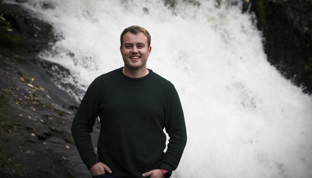Mathias Mikkelsen i Memory ved Akerselvas bredder. Foto: Per-Ivar Nikolaisen