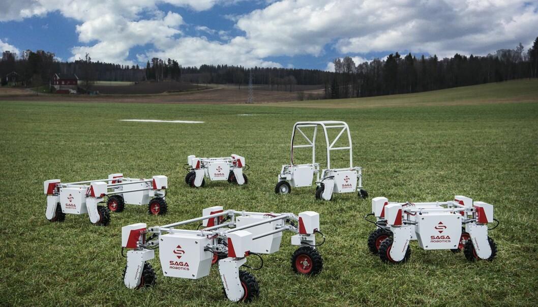 Saga Robotics' Thorvald, en autonom landbruksrobot. Foto: Benjamin A. Ward