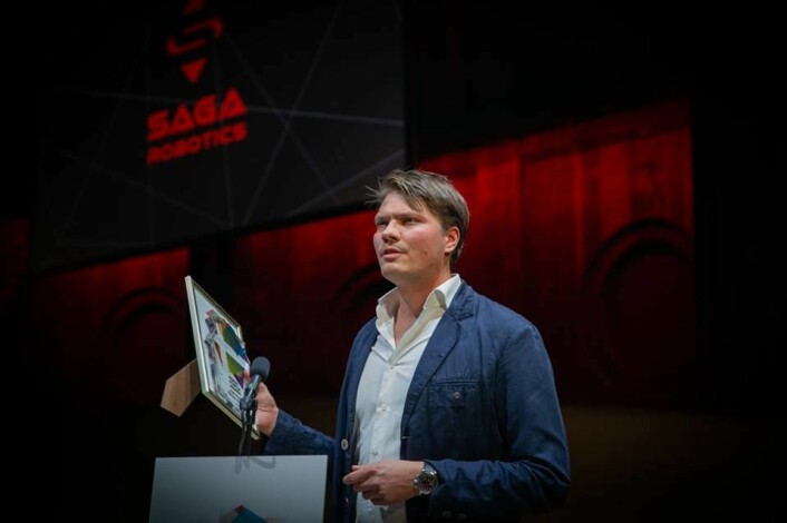 CEO Pål Johan From mottok prisen for beste nordiske startup i kategorien FoodTech/AgriTech.