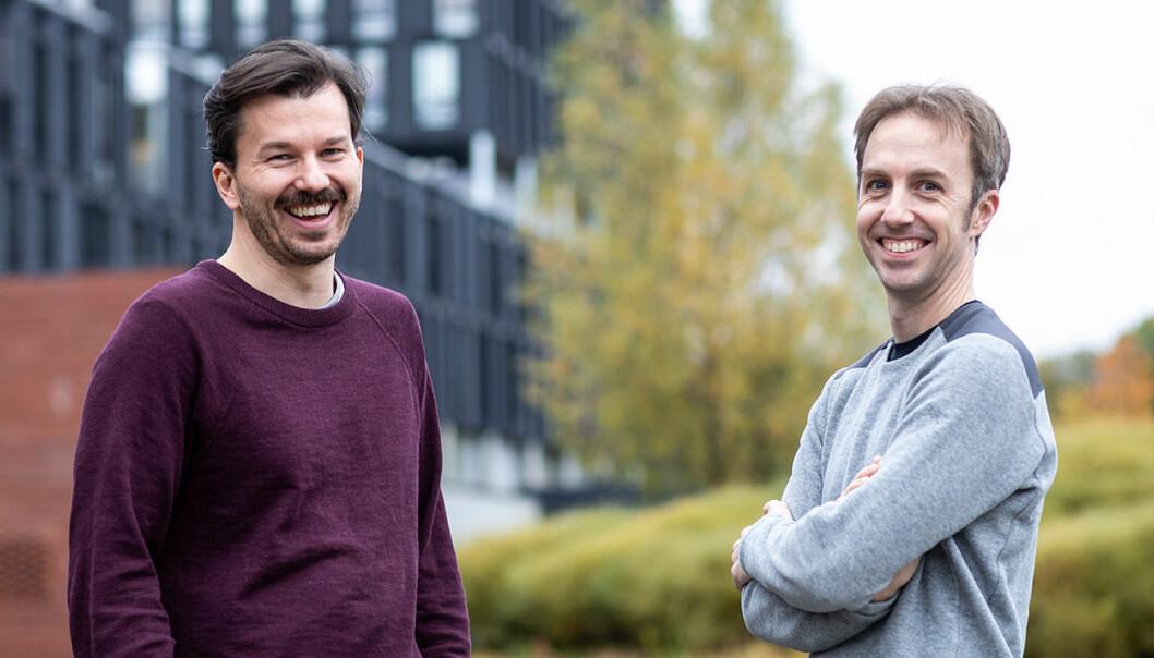 Bertil Helseth (CEO) og Jonathan Camp (CSO) i Intelecy. Foto: Håkon Vikør Treider