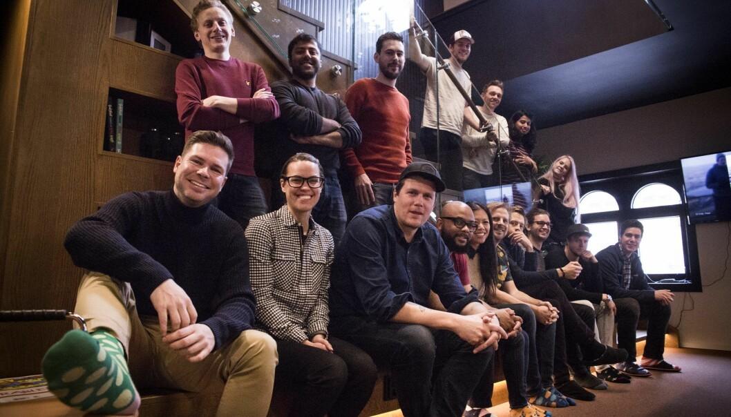 Noen fra Oslo-teamet sammen med besøkende fra NYC-teamet, foto tatt i fjor mens det fortsatt var ok å være i større grupper. Arkivfoto: Per-Ivar Nikolaisen