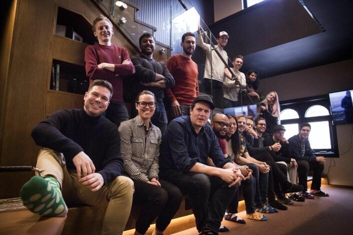 Noen fra Oslo-teamet sammen med besøkende fra NYC-teamet. Foto: Per-Ivar Nikolaisen