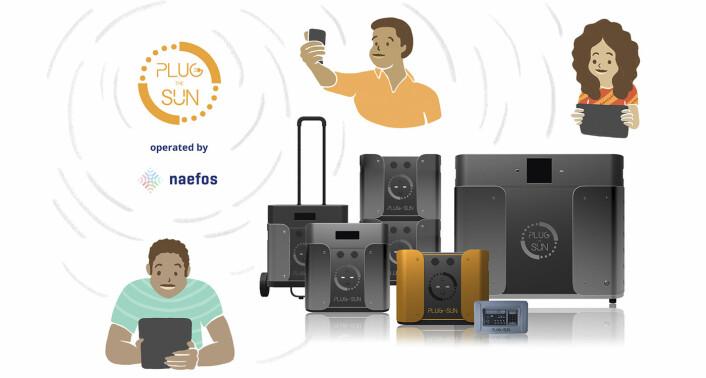 Plug the Sun og Naefos sitt strategiske partnerskap innebærer at Plug the Sun-produktene vil bli drevet av teknologi fra Naefos. Foto: Plug the Sun / Naefos