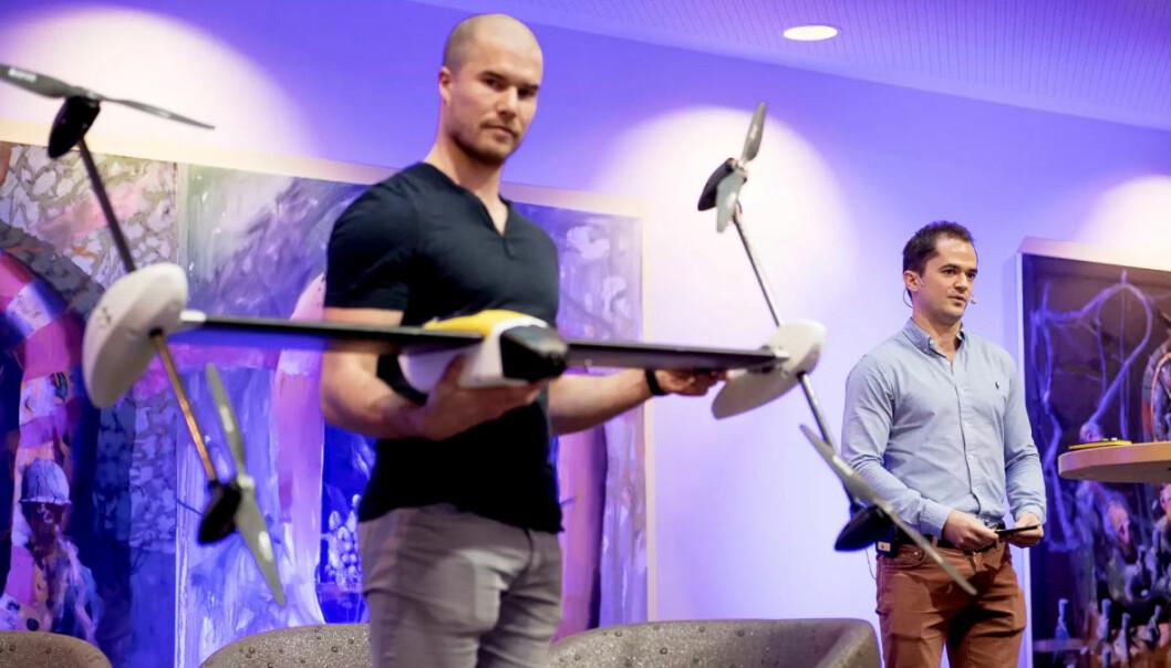 Per Magnus Veierland, CEO i Sevendof til høyre. Foto: Sevendof