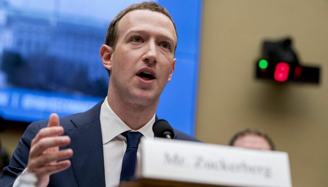Facebook CEO Mark Zuckerberg. Foto: AP Photo/Andrew Harnik