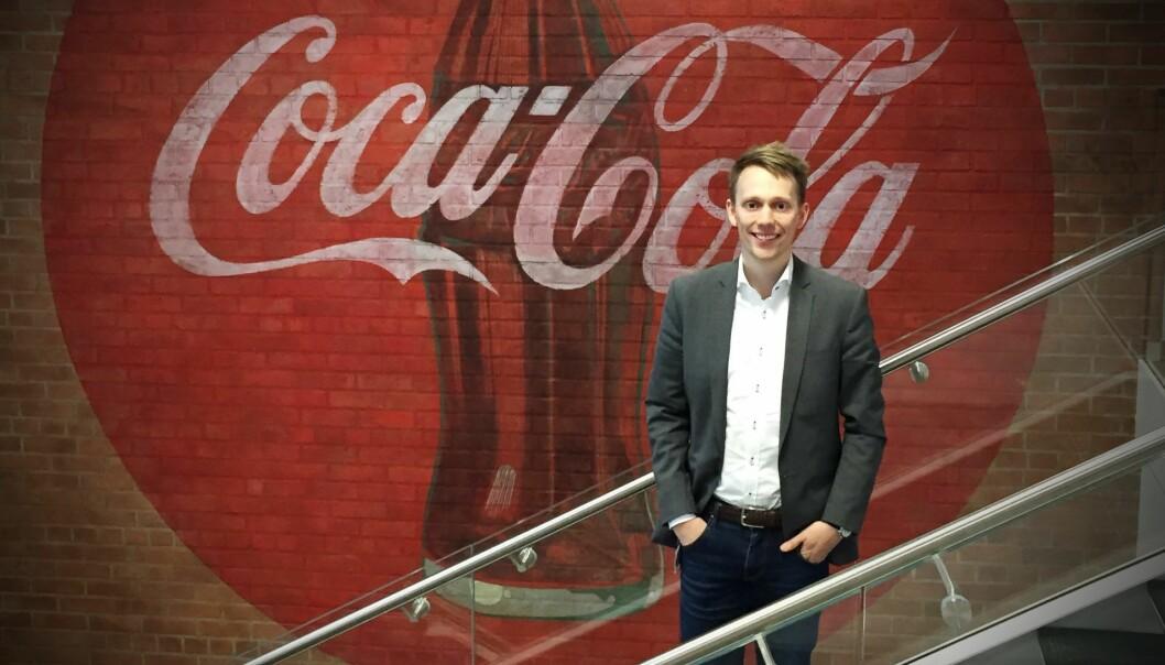 Knut Anders Thorset går fra Coca Cola til Inzpire.me. Foto: Presse
