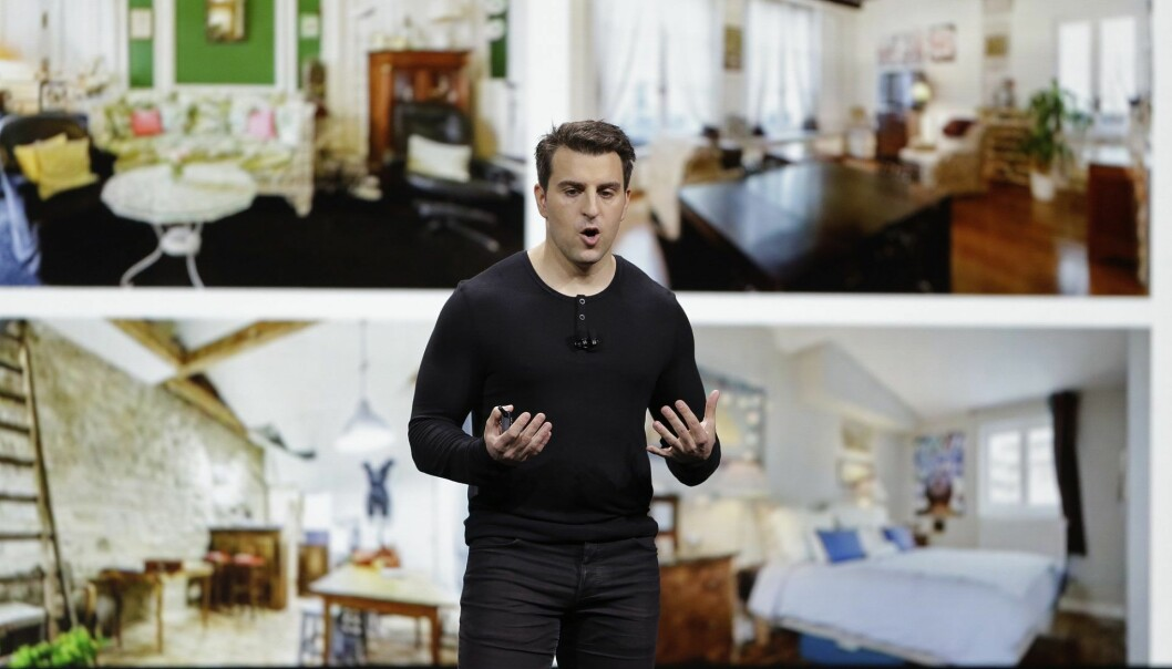 Airbnb-gründer og sjef Brian Chesky. Foto: AP Photo/Eric Risberg