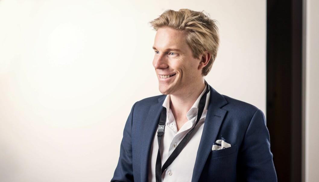 Christoffer Hernæs, digitalsjef i Sbanken. Foto: Morten Wanvik