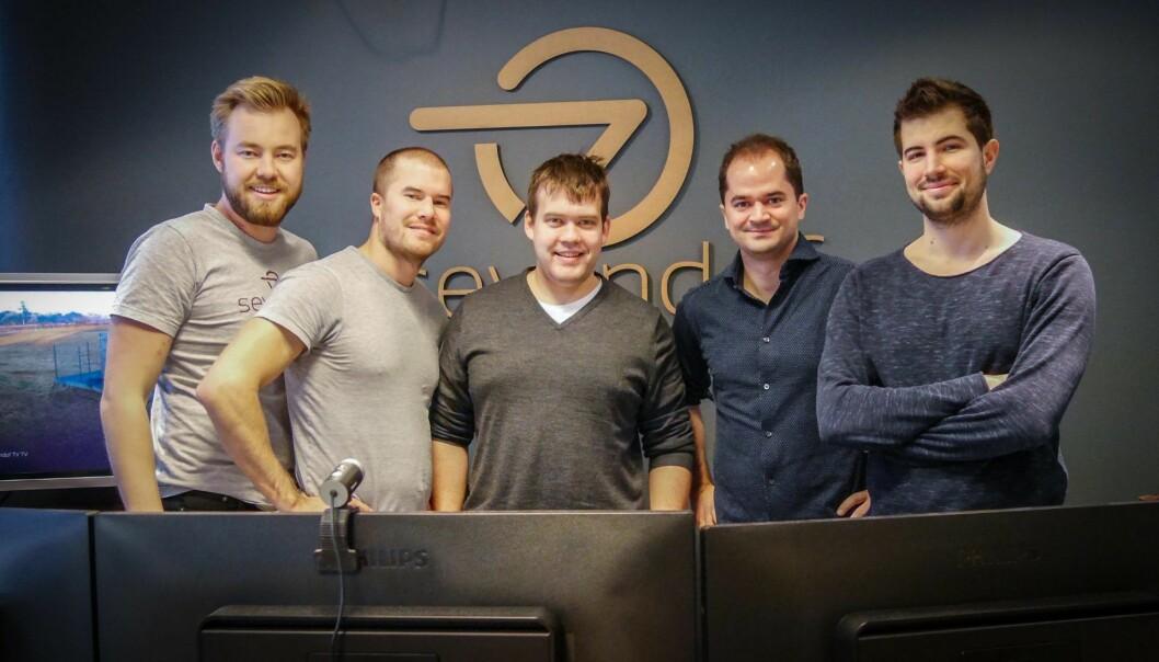Sevendofs kjerneteam: Jørgen Veiby, Johannes Hatle Lundgaard, Jostein Furseth, Per Magnus Veierland og Alfredo Clemente. Foto: Sevendof