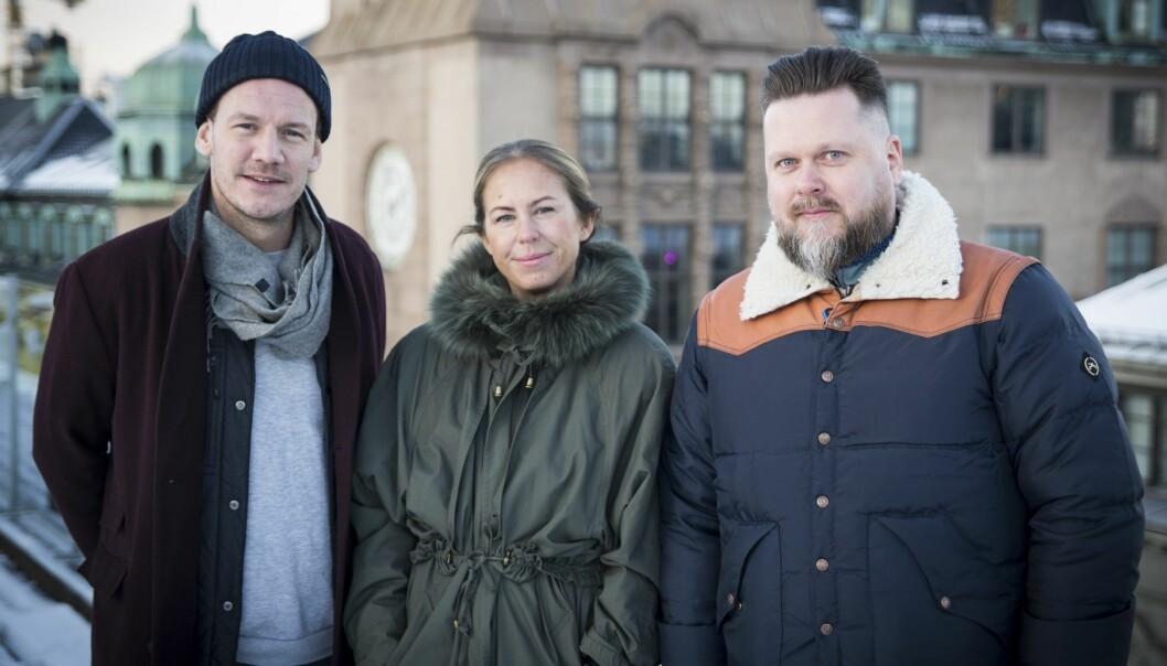 Marcus Soknes, Madeleine Holbye og Lars Johan Bjørkevoll har dannet ScaleupXQ. Foto: Per-Ivar Nikolaisen
