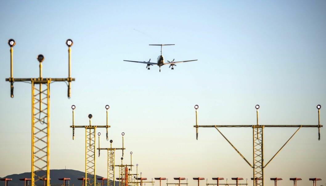 Illustrasjonfoto: Fly på vei inn for landing. Foto: Paul Kleiven / NTB scanpix