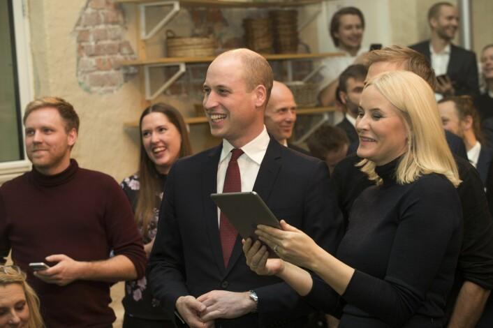 Prins William av Storbritannia og hertuginne Kate besøkte Norge tidligere i år, og selvsagt sto en runde Kahoot på programmet. Foto: Terje Bendiksby / NTB scanpix