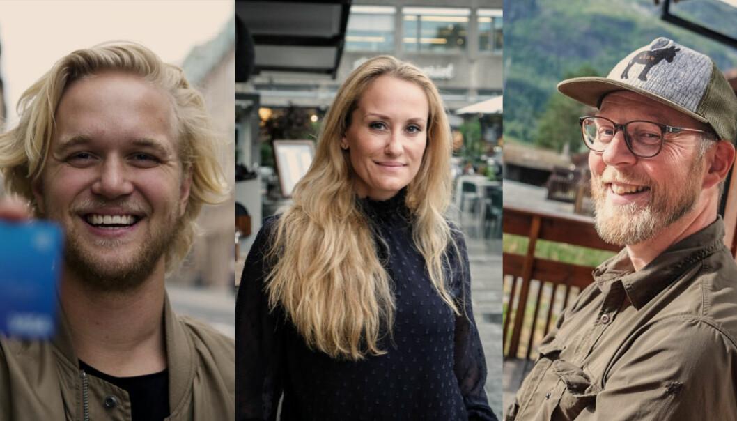 Norges-sjef for Revolut Espen Myklebust, «mattedama» Vibeke Gwendoline Fængsrud og Erik Harstad, CEO i NoFence på topp tre mest leste Shifter-saker i 2018.