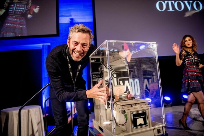 Andreas Thorsheim da Otovo vant Oslo Innovation Award under Oslo Innovation Week 2018. Kort tid etter hentet selskapet 100 millioner kroner. Foto: Gorm K. Gaare / Oslo Innovation Week
