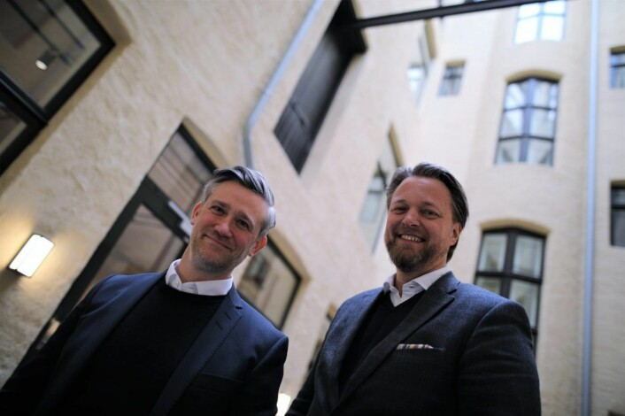 David Baum, CEO i FinStart Nordic og Jarle Holm, eks-kollega og CEO i Monner. Foto: Lucas Weldeghebriel