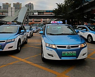 I denne tech-byen er 99 prosent av taxiene elektriske