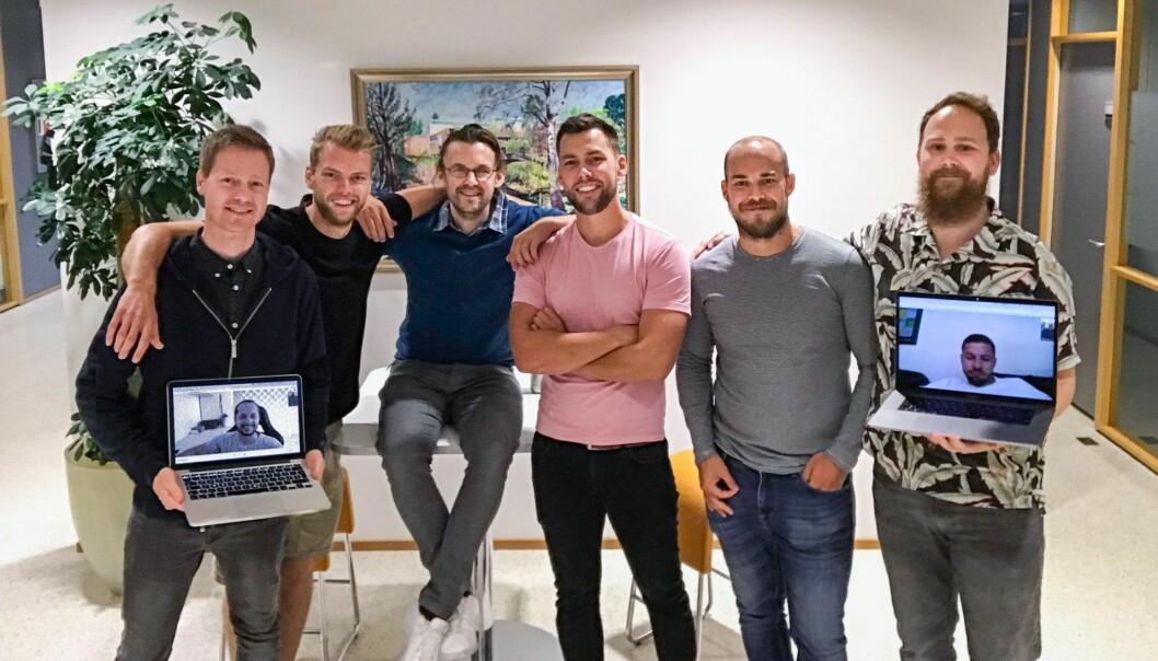 Differ-teamet: Kristian Collin Berge, Are Almaas, Geir Sand Nilsen, Kenneth Lynne, Sondre Mære Overskaug. Henrik Johnsen og Gregor Jarisch online. Foto: Privat