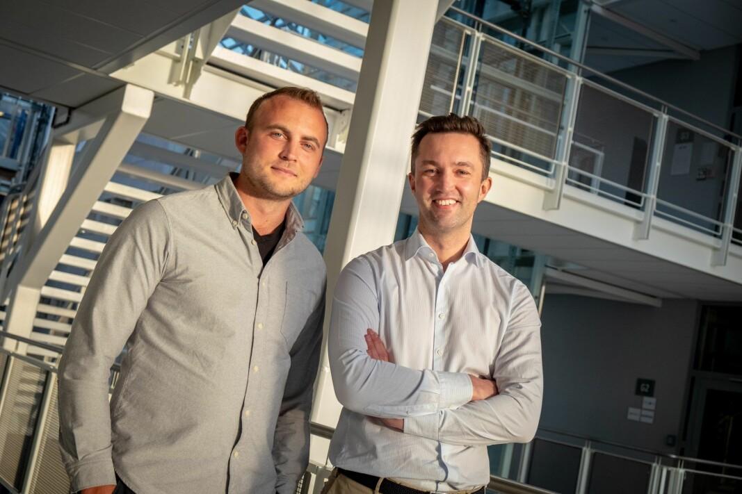 Gründerne Vegard Krogh-Reinsnes og Karl Martin Lind i Eyr.