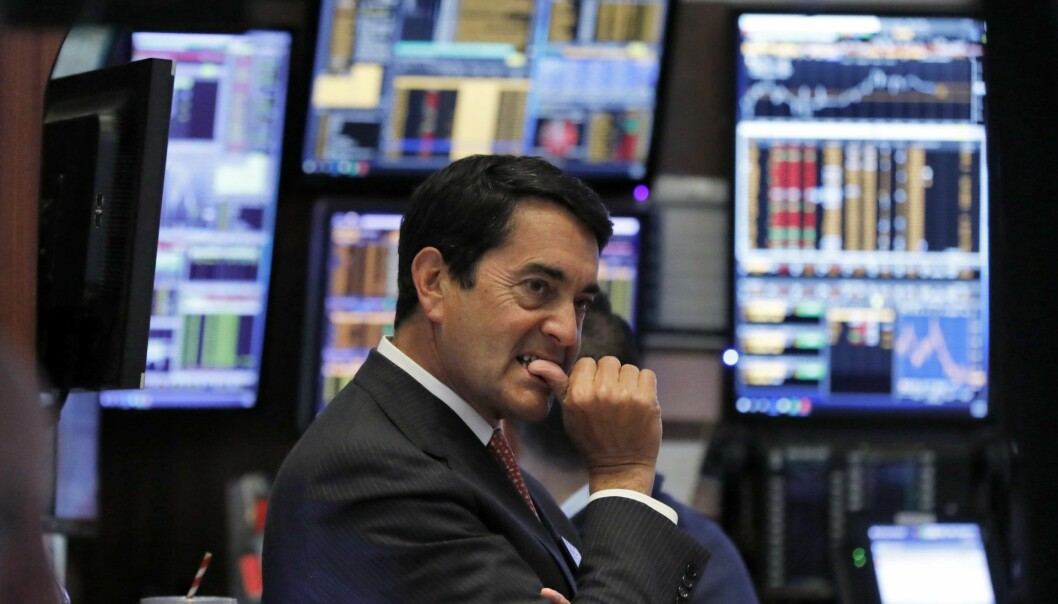 Trader Mark Muller works on the floor of the New York Stock Exchange, Thursday, Jan. 3, 2019. Stocks went into a steep slide Thursday after Apple sent a shudder through Wall Street with word that iPhone sales in China are falling. (AP Photo/Richard Drew)