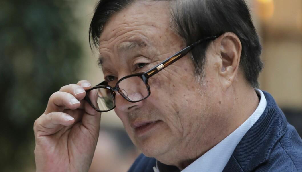 Gründer og toppsjef i Huawei, Ren Zhengfei. Foto: AP Photo/Vincent Yu