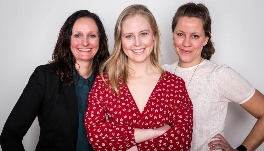 Hvem blir årets kvinnelige gründer? Annette Anfinnsen (Robotic Innovation), Sigrun Syverud (Fjong) og Merete Nygaard (Lawbotics). Foto: Charlotte Wiig/Innovasjon Norge.