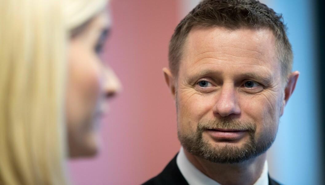 Helseminister Bent Høie, her på åpning av nybygg for Psykisk helsevern ved Lovisenberg sykehus.  Foto: Terje Pedersen / NTB scanpix