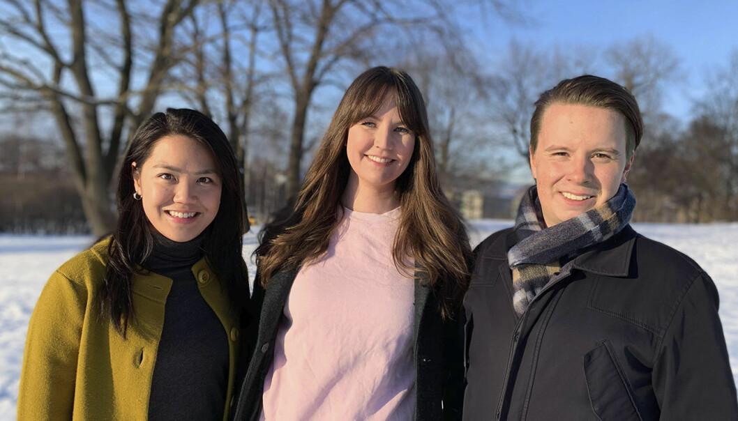Rådgiver Valerie Leung, daglig leder Elisabeth Skjelten, og utvikler Simen Johannessen. Foto: Oaseit