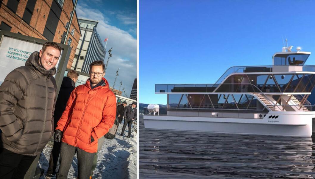 Espen Larsen-Hakkebo og Ivar Hogganvik i Brim Explorer er med i den nye havteknologi-akseleratoren Katapult Ocean. Foto: Vilde Mebust Erichsen / Brim Explorer