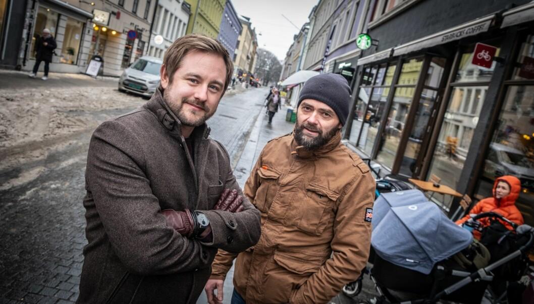 Switcr: Daglig leder Simon Uldén og Lars G Dysterud Hansen. Foto: Vilde Mebust Erichsen
