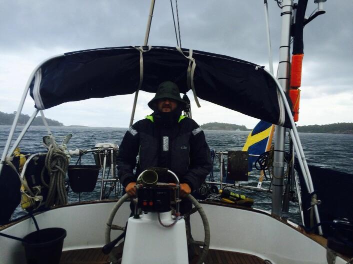 <strong>Tilbake til start:</strong> Simon Uldén (på bildet) og Lars Dysterud Hansen møttes da begge var på hver sin jordomseiling i 2012. Det ble startet på et nytt eventyr sammen. Foto: Privat