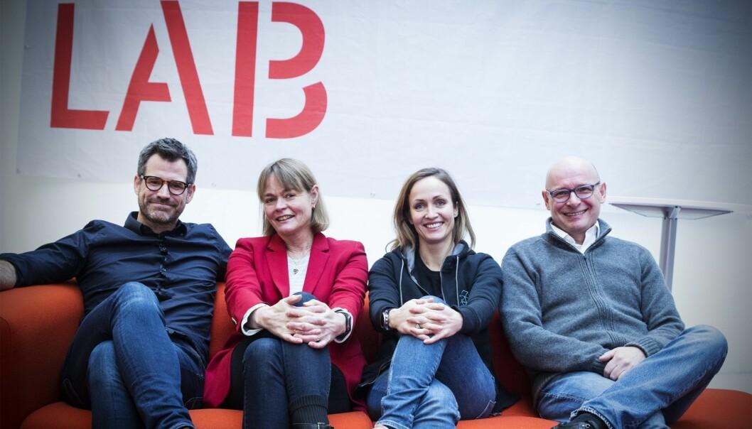 Alexander Woxen, Grete Viksaas, Anne Lise Wahl og Geir Førre. Foto: Per-Ivar Nikolaisen
