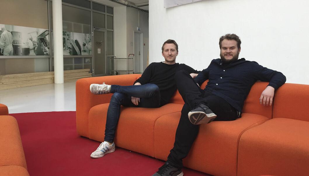 Scrimba-gründerne Sindre Osen Aarsæther og Per Harald Borgen.