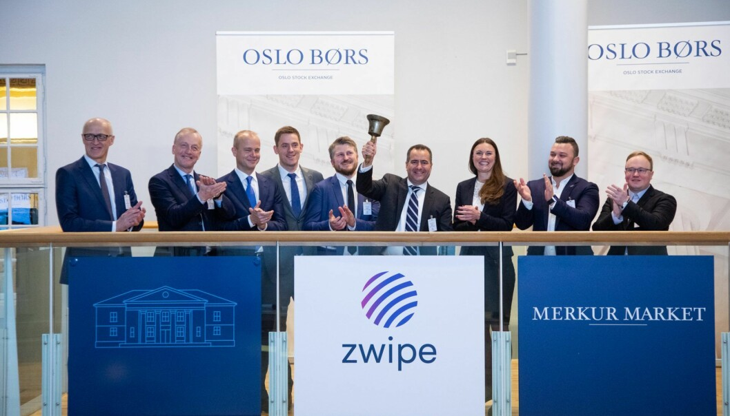 Bjellesermoni for Zwipe AS på Oslo børs i januar 2019.