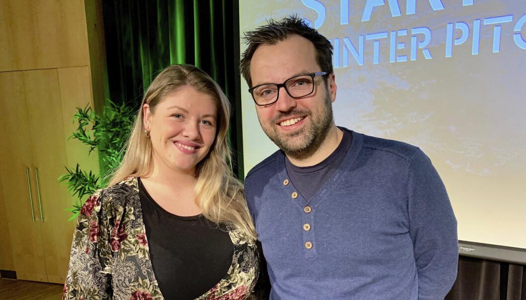 Åshild Aarø og Erlend Waaler blir en del av StartupLab Bergen.