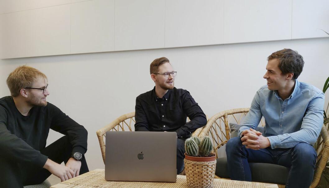 Tre av de sentrale i Konsus, fra venstre: Fredrik Thomassen (CEO), Ben Myhre, Håkon Heir (COO).