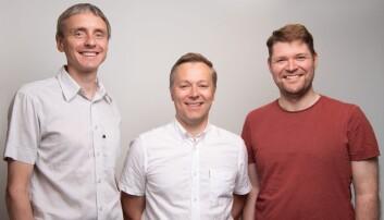 Ledelsen i Age Labs (fra venstre): Arne Vasli Søraas, lege, PhD (CSO), Espen Riskedal, MSc (CEO) og Karl Trygve Kalleberg, lege, PhD (CTO). Foto: Press