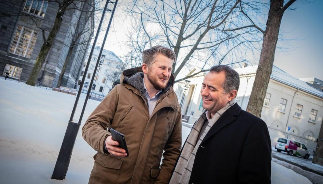 Kim Humborstad, gründer og CGO, sammen med CEO André Løvestam. Foto: Vilde Mebust Erichsen