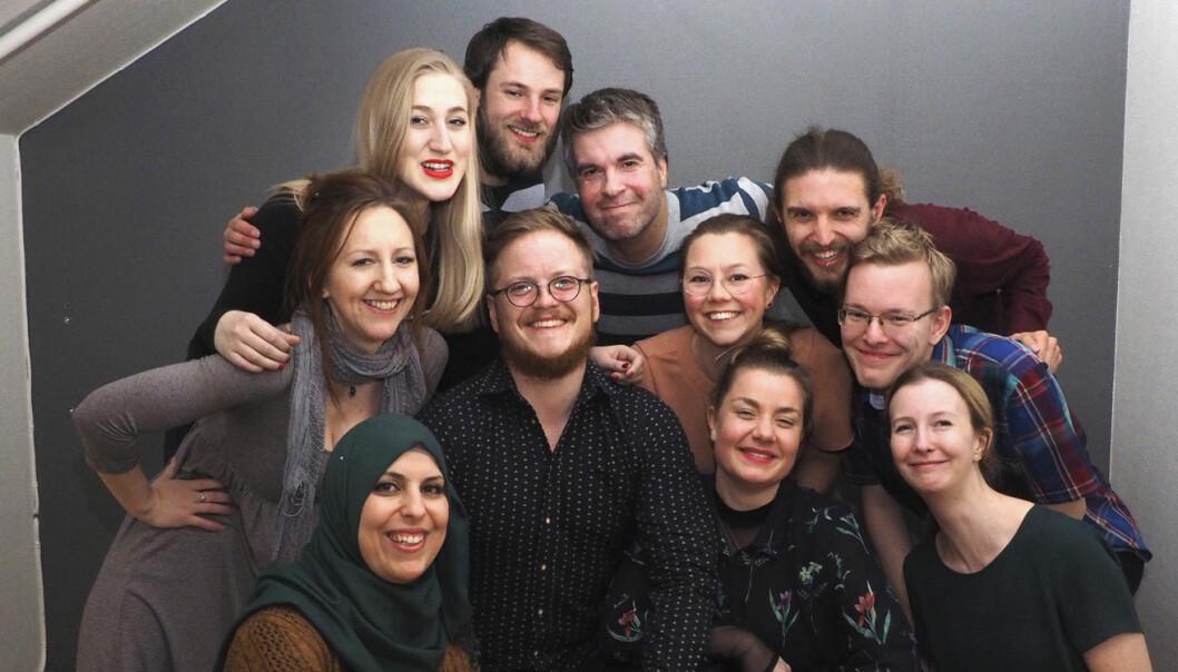 Deler av Ducky-teamet - der alle er ledere, og dermed like viktige for å lykkes, ifølge selskapet selv. Foto: Privat