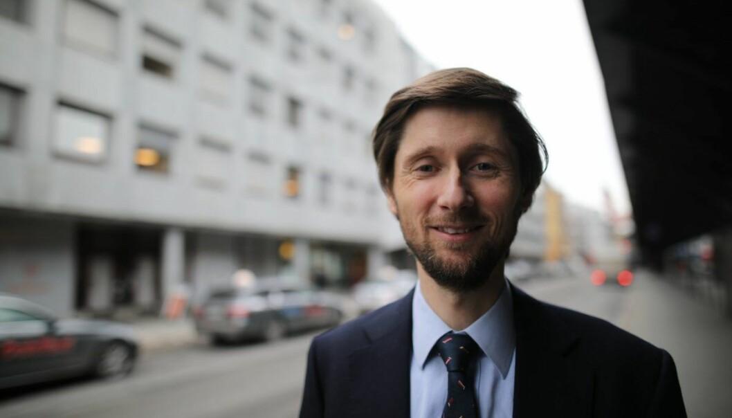 "Rasmus Figenschou er direktør for ""New Business"" i DNB. Foto: Lucas Weldeghebriel"